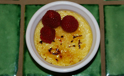 ... , sugar, and vanilla are all the ingredients in a basic creme brulee